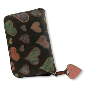 Dooney & Burkey Multi-Color Heart Wallet